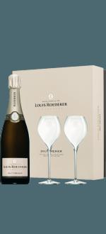CHAMPAGNE LOUIS ROEDERER - BRUT PREMIER - ESTUCHE 2 COPAS