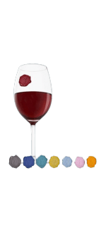 8 MARQUES COPAS - GLASS MARKER CLASSIC GRAPPES - VACUVIN