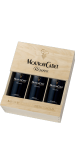 ESTUCHE 3 BOTELLAS MOUTON CADET RESERVE PANACHE - BARON PHILIPPE DE ROTHSCHILD