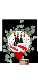 PACK SPECIAL MARIAGE MUMM CORDON ROUGE : CHAMPAGNE & SEAUX & FLUTES & VASQUES